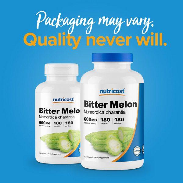 Nutricost Bitter Melon 600mg, 180 Capsules - Gluten Free, Non-GMO 2