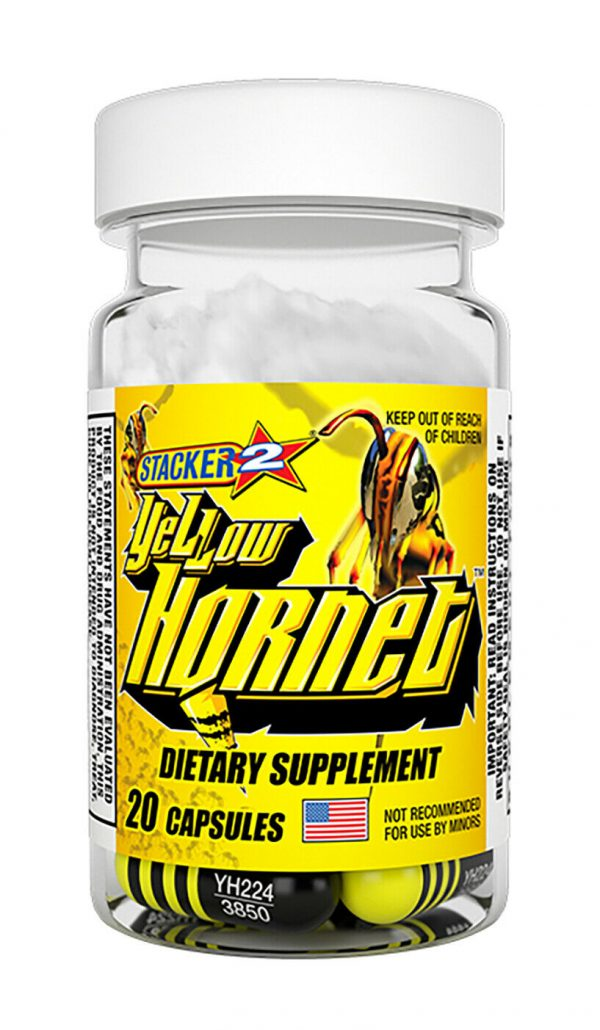 Yellow Hornets Weight loss & Energy Supplement 100ct 5x20ct Bottles Exp.12/2023 3