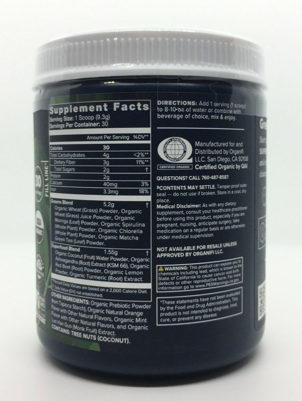 Organifi Green Juice Superfood Dietary Supplement 30 Day Supply Super Food NEW 3