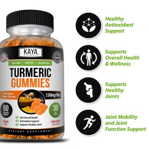 Turmeric Curcumin Ginger Gummies, 60 Count, Pain Relief & Joint Support Gummy 1