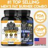 Monster Test Men's Fat Burner AM Day + PM Night Weight Loss Diet Pill Combo 2-PK