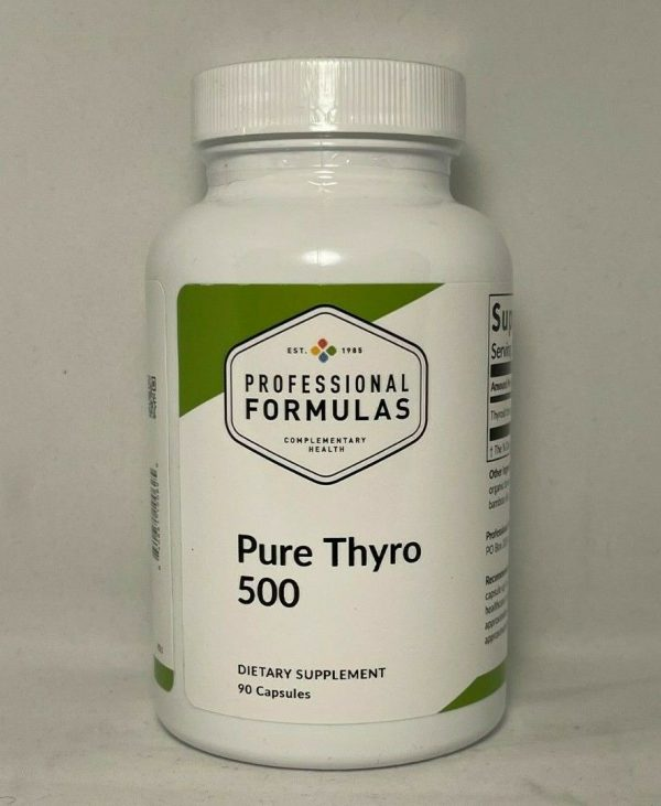 PURE THYRO 500 PROFESSIONAL FORMULAS GLANDULAR BOVINE THYRO