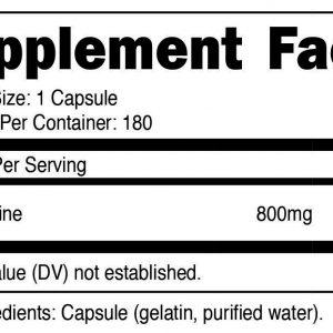 Nutricost L-Glutamine 800mg, 180 Capsules - Gluten Free, Non-GMO, High Quality 1
