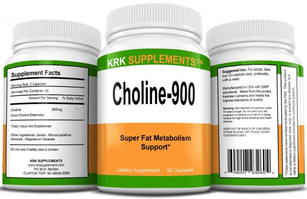2 Pack Choline Bitartrate 900mg per serving Brain Memory Booster Fatty Liver 1