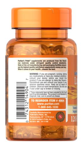 Puritan's Lutigold Lutein 20 mg 120 Softgels with Zeaxanthin Supports Eye Health 2