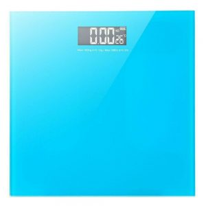 Electronic Digital Bathroom Scale Glass Body Weight Scale 396lb with Battery