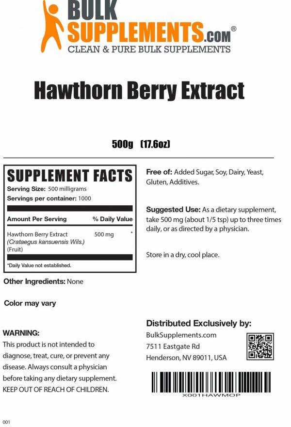 BulkSupplements.com Hawthorn Berry Extract 3