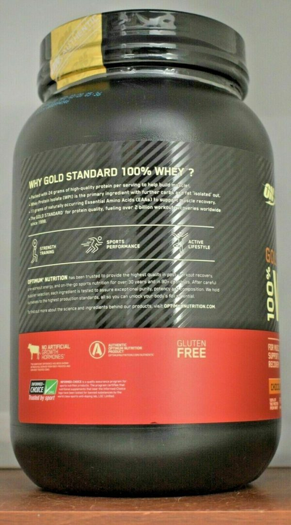 Gold Standard Whey 100% Protein 2 lb Optimum Nutrition ON Isolate  Choose Flavor 3