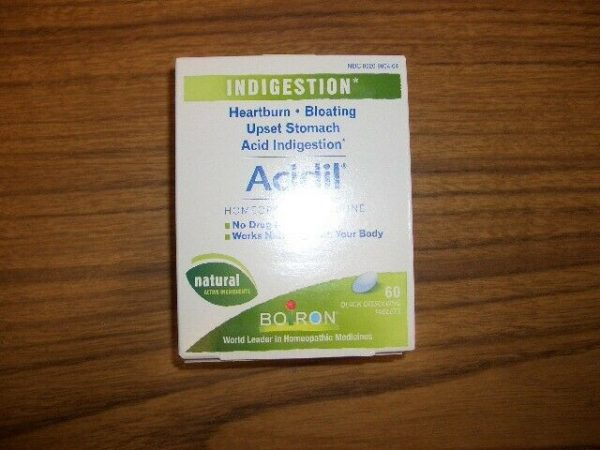 Boiron, Acidil, Indigestion, 60 Quick-Dissolving Tablets Exp 1/2023 1