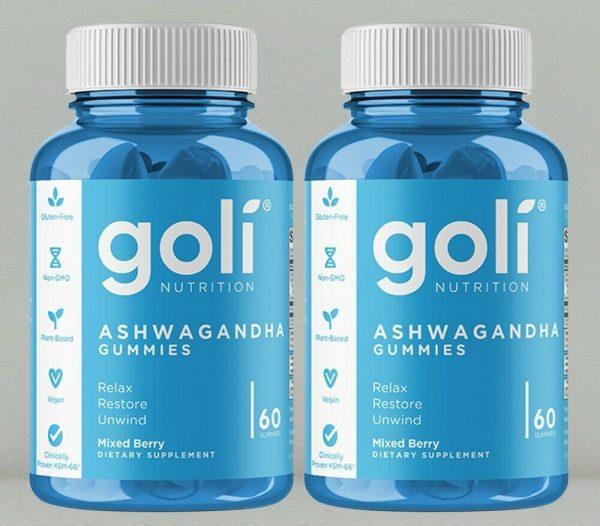 Ashwagandha Gummies by Goli Nutrition, 2 x 60 gummies