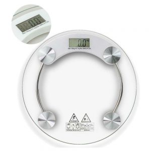 400lb/180KG Bathroom Digital Electronic Glass Weighing Body Weight Scale 1
