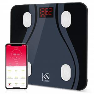 FITINDEX Smart Body Fat Scale BMI Scale Bathroom Digital Weight Wireless Scale -