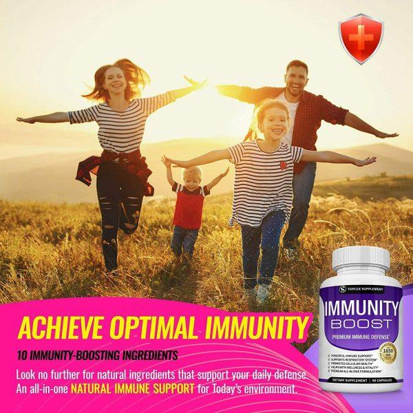 PREMIUM Immune System Booster (180 CAPSULE) Vitamin C +Zinc+Elderberry+Echinacea 7