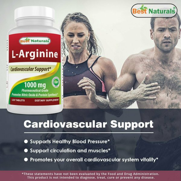Best Naturals L-Arginine Tablet, 1000 mg, 120 Count  1