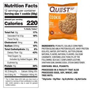 High Protein Cookies Quest 12 Pack 4 Flavors Low Carb Keto Friendly Gluten Free 1