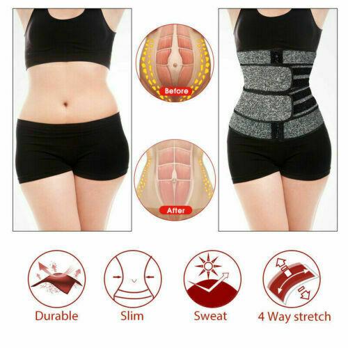 Women Waist Corset Trainer Sauna Sweat Yoga Weight Loss Body Shaper Trimmer Belt 7