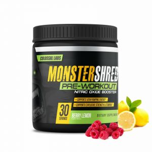 Monster Shred Pre Workout Powder  Anabolic Nitric Oxide Energy, Explosive, Focus