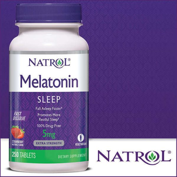 Natrol Melatonin 5 mg Fast Dissolve 250 Tablets-Strawberry Flavor  1