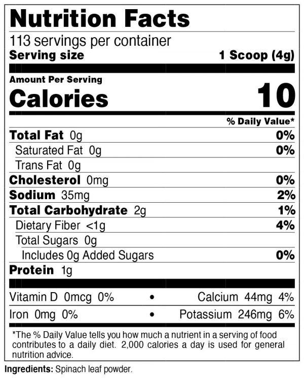 Nutricost Pure Spinach Powder 1LB 1