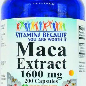 1600mg Maca Root 200 Capsule Herbal 400mg 4:1 Extract Male Female Enhancement VB