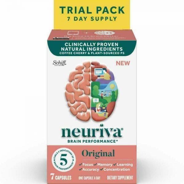 3 Pack Neuriva Brain Performance ORIGINAL 7 Capsules FOCUS MEMORY EXP 3/21