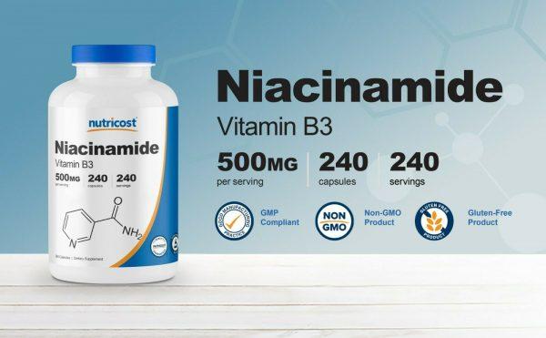 Nutricost Niacinamide (Vitamin B3) 500mg, 240 Capsules - Flush Free, Gluten Free 2