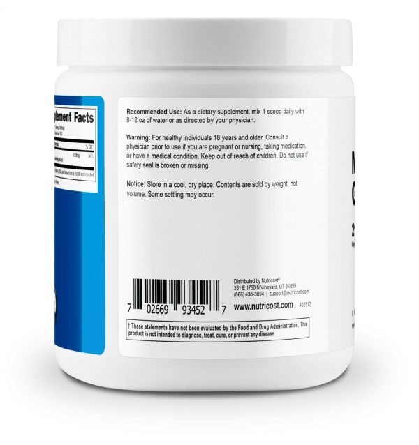 Nutricost Magnesium Glycinate Powder (250 Grams) (Unflavored) 3