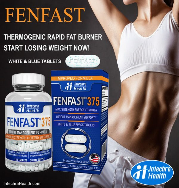 Fenfast 375 Weight Loss Diet Pills with Powerful Energy 120 White/Blue Tablets 3