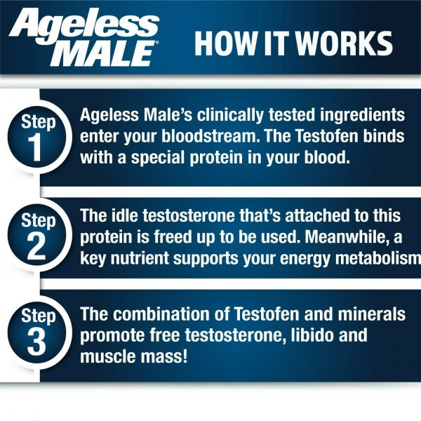 Ageless Male Free Testosterone Booster by New Vitality - NEW - 60 Tablets 4