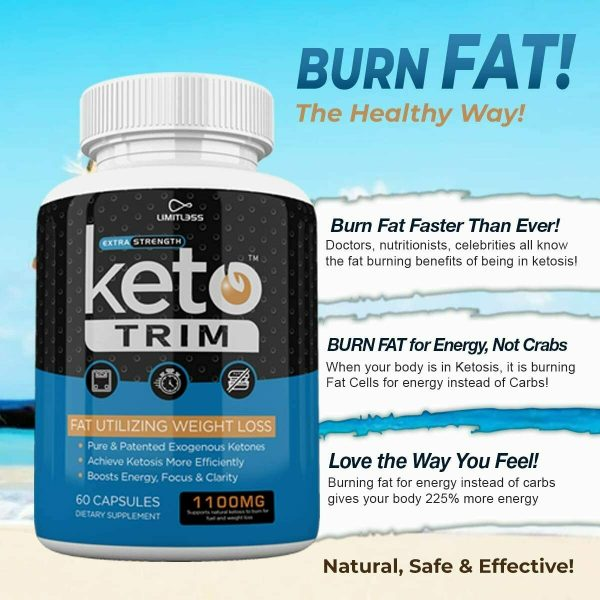 KETO TRIM EXTRA STRENGTH 3 MONTH SUPPLY **FAST SHIPPING** 3