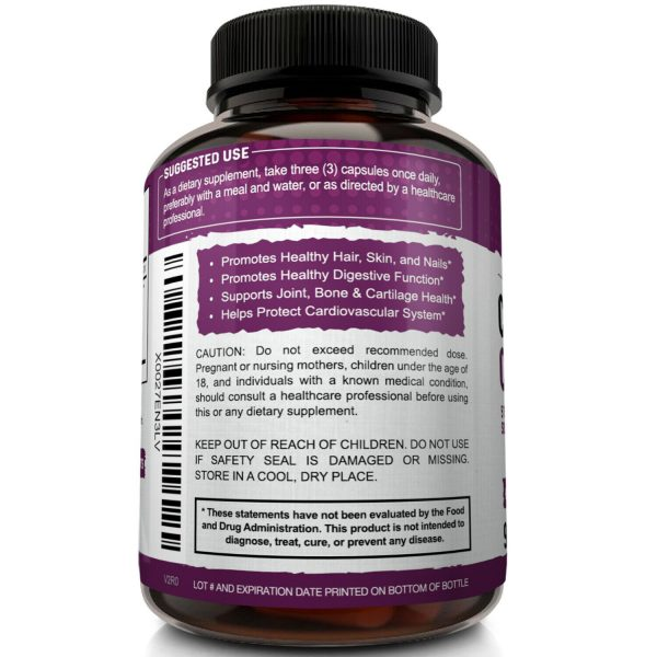 Multi Collagen Pills 5 Types I II III V X Collagen Protein Peptides Complex 2250 4