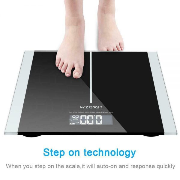 396 LB Digital LCD Personal Glass Bathroom Scale Body Weight Weighing Scales KG 3