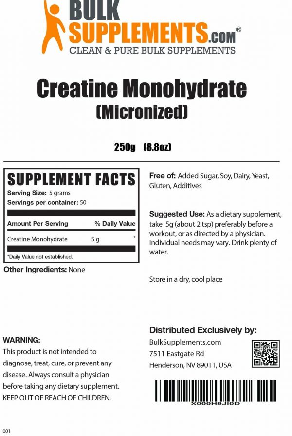 BulkSupplements.com Creatine Monohydrate (Micronized) 3