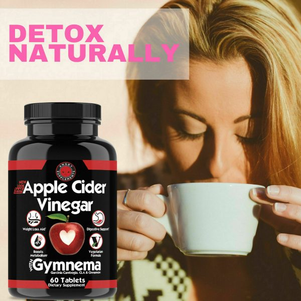 Weight Loss Apple Cider Vinegar w. Garcinia Pills ACV & CLA Fat Burner, 60 ct 1P 10