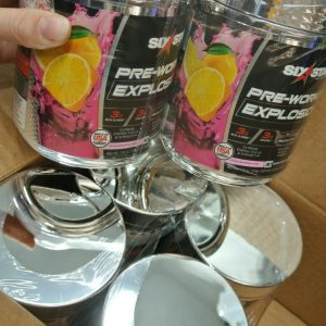 (6ct) Six Star Pre Workout Explosion Powder Pink Lemonade 7.41oz EXP 04/10/21