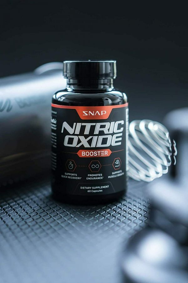 Nitric Oxide Booster Supplement 1500mg - Pre Workout, Muscle Growth - 60 Caps 8