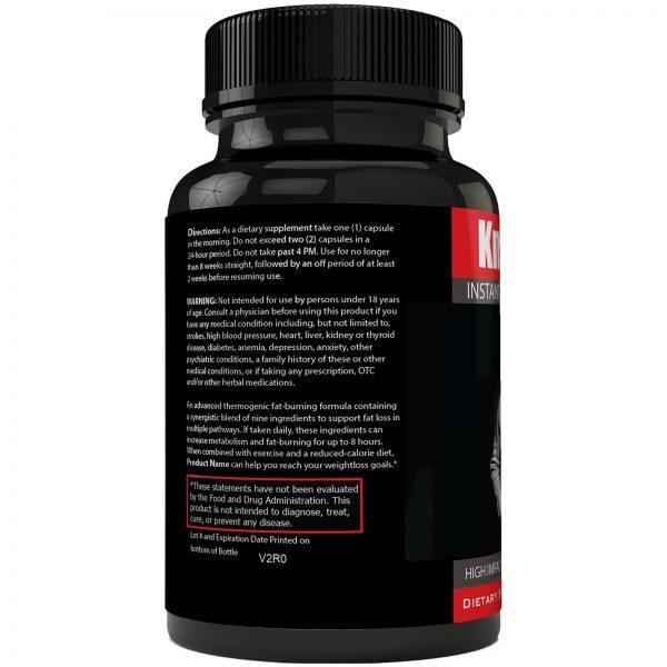 Instant Knockout Fat Burner Diet Supplement Pill for Men and Women - High Imp... 2