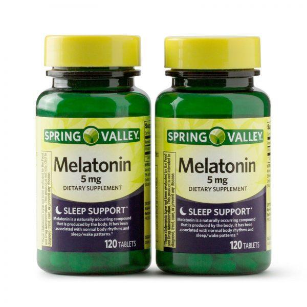 New Spring Valley Melatonin Tablets 5 mg 120 Ct 2 Pack