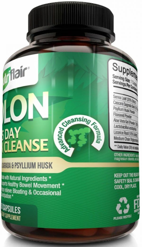 ▶ NutriFlair 15 Day Quick Colon Cleanse - Natural Cleansing Formula, 30 Capsules 3