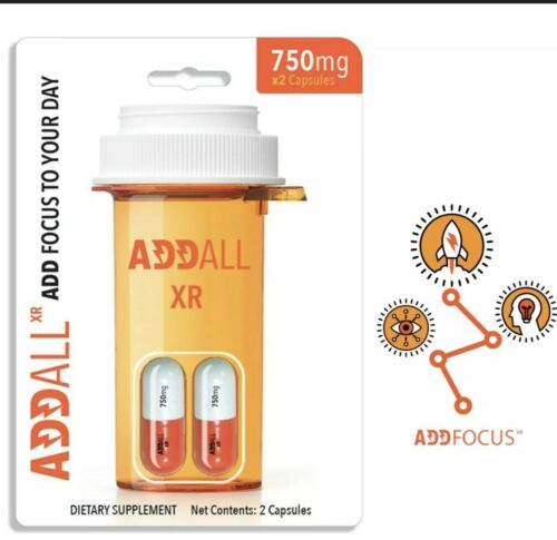 AddAll XR750mg,Energy Focus Concentration,12 Packs24 Authentic Guaranteed. 2