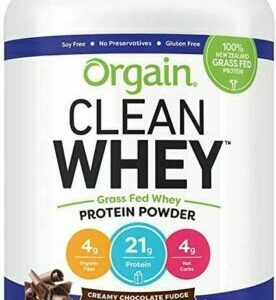 Orgain Grass Fed Clean Whey Protein Powder, Chocolate Fudge 2.46lb EXP 12/2020
