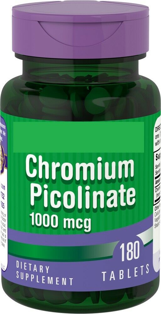 Ultra Chromium Picolinate 1000 mcg 180 Tabs Piping Rock