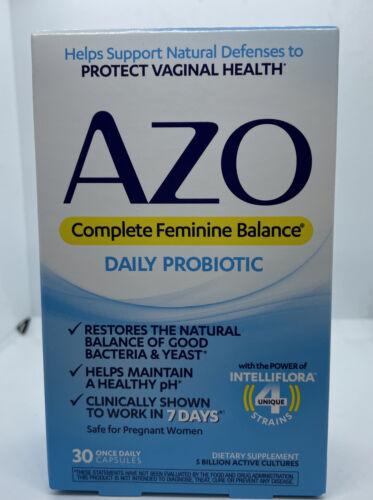 AZO Complete Feminine Balance Daily Probiotic - 30 Capsules Exp: 10/21