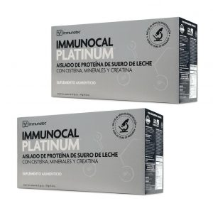 "IMMUNOCAL PLATINUM 2 BOXES by IMMUNOTEC ""GLUTATHIONE PRECURSOR"" FREE SHIPPING!"