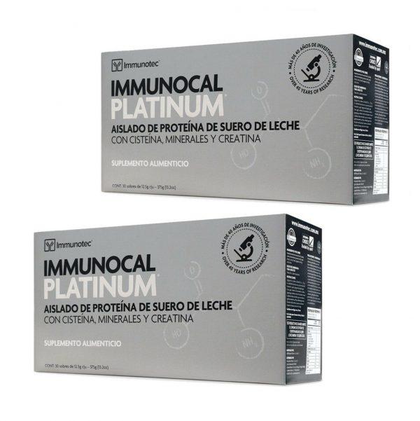 "IMMUNOCAL PLATINUM 2 BOXES by IMMUNOTEC ""GLUTATHIONE PRECURSOR"" FREE SHIPPING!"