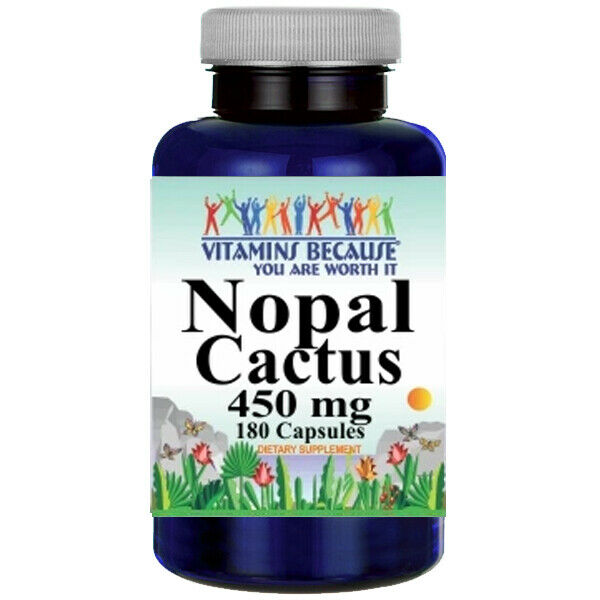 Nopal Cactus 450mg 180Caps Nopal opuntia
