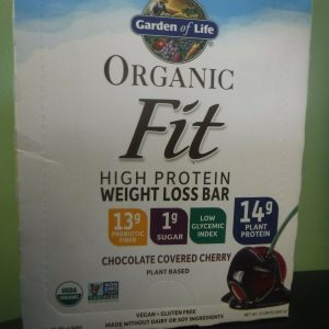 12 Garden of Life Chocolate Covered Cherry Organic Fit Bars JULY/21
