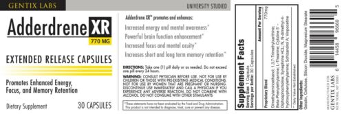 Adderdrene XR Scientifically Formulated to Increase Brain Function, Mental Focus 1