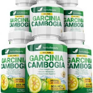 6 X BOTTLES 360 Capsules 3000mg Daily GARCINIA CAMBOGIA HCA 95% Weight Loss Diet 1