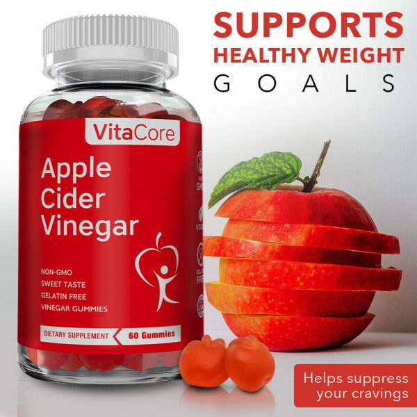 VCnature  Apple Cider Vinegar slimming Gummies ACV 60 Gummies   compare to goli 2